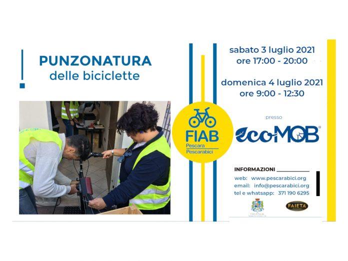 Punzonatura biciclette EcoMOB