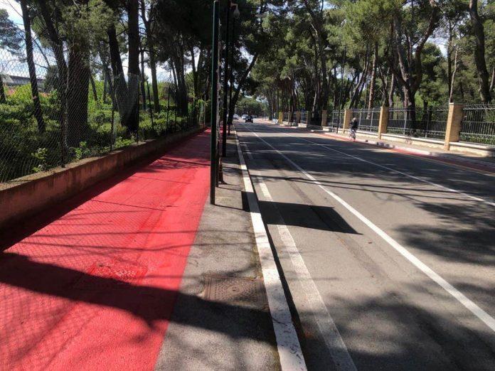 pista ciclabile via D'Avalos